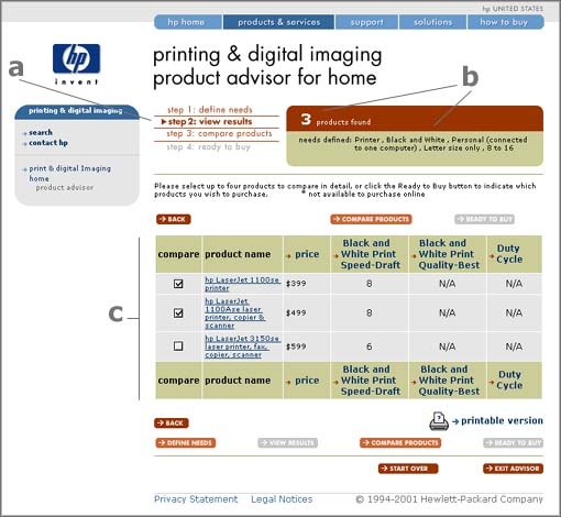 HP PDI - screen shot